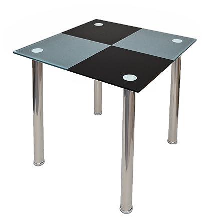 Mesa de comedor cocina Mesa Diseño Esquina Mesa cuadros negro gris ...