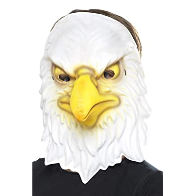 Smiffys Eagle Mask, White/Yellow, One Size: Toys & Games