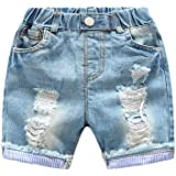 Yiiquan Bambini Pantaloncini Estate Jeans Strappato Casuale Jeans Corti