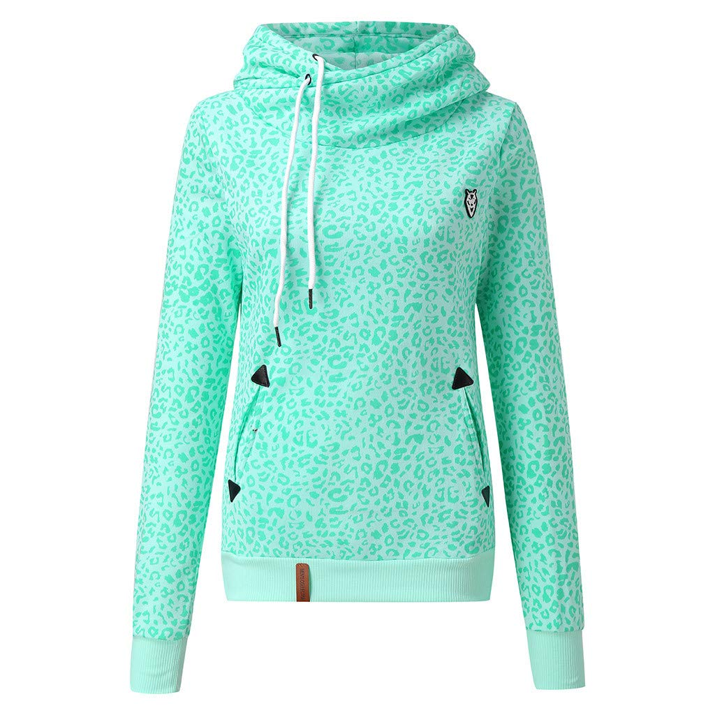 Sport Tops for Women Fashion Hooded Sweatshirt Long Sleeve Pullover Casual Blouse with Pockets (Green,S) by BNisBM