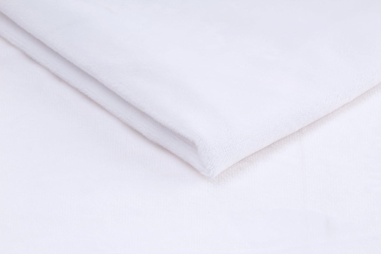 Minky Winky planicie Tela de felpa suave 50 x 160 cm Aguamarina