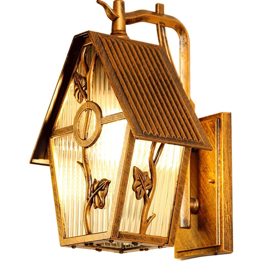 Americano Impermeabile Retro LEDE27 Lampada Da Parete-balcone Villa Terrazza Giardino Applique Da Parete Europeo Esterno Cortile Lampade Da Parete (colore   Bronze-A)
