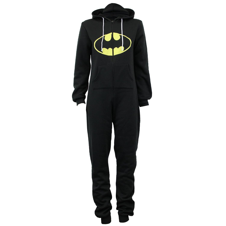 f71951142932d N   A Combinaison Grenouillère Femme Batman Tout-En-Un Eté Capuche  Super-Héros - Noir - Batman