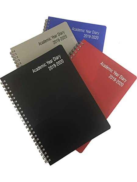 Weekly Week to View A5 /& A4 Mid-Year Academic Diary 2019-2020 Spiral Ring Bound