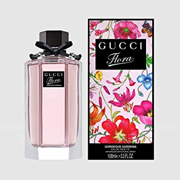 83e881ea3 Amazon.com : G Ucci Flora Gorgeous Gardenia Eau De Toilette Perfume Luxury  Spray 3.3 Oz. New with Box : Beauty