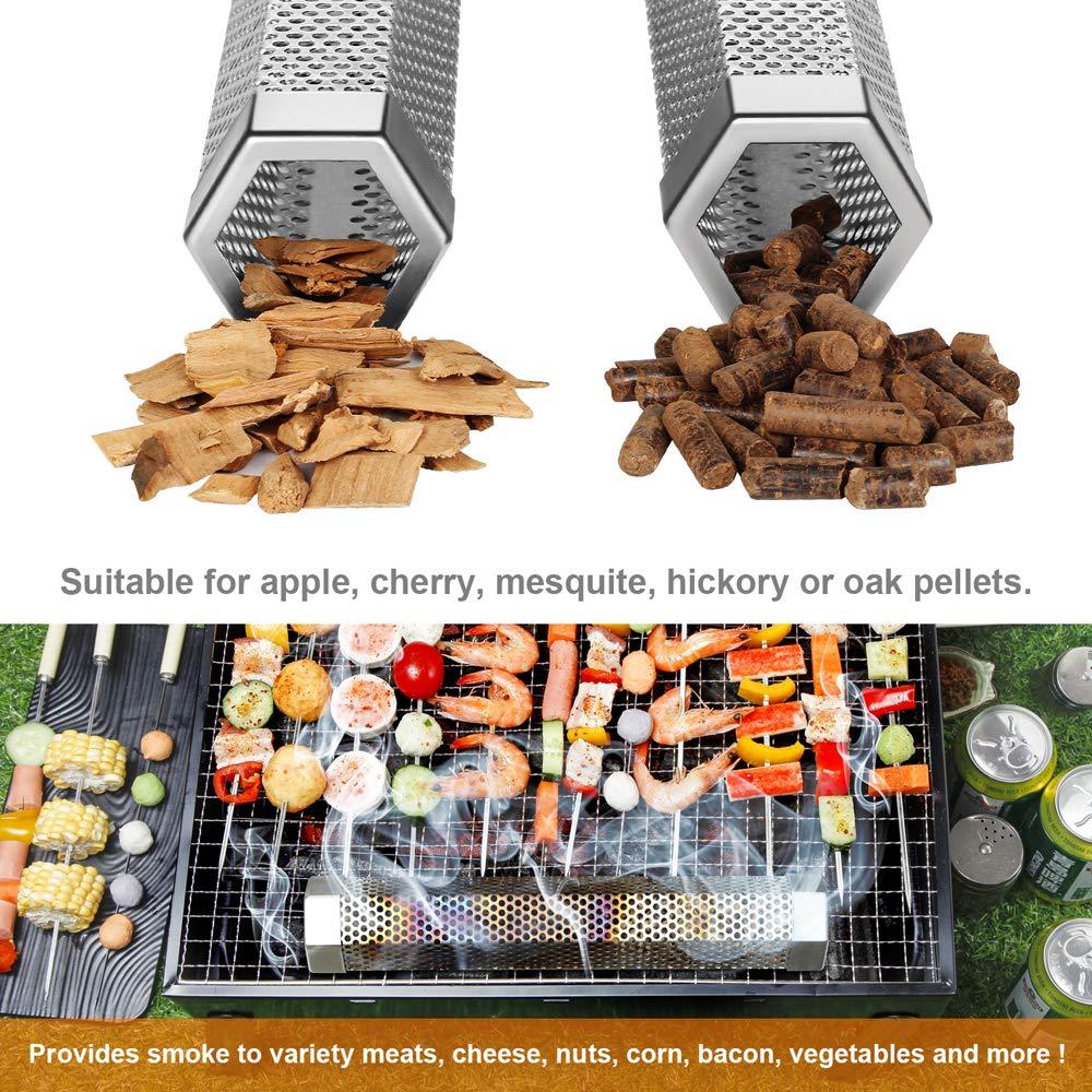 Amazon.com: MVZAWINO - Tubo para ahumador de pellets para ...