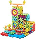 Gear Building Blocks Educational Toy for 3 4 5 6 7 years old kids Multi Colors and Shapes Puzzle 81 Pieces