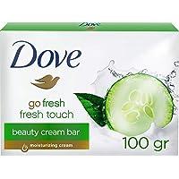 Dove Tvättbit Beauty Cream Bar med Gurka och Grön Te för Daglig Hudrengöring med 1/4 Fuktighetskräm och Milda…
