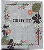 Meadowsweet Kitchens (Fabric Covered) Recipe Card Cookbook, Vintage Flowers design