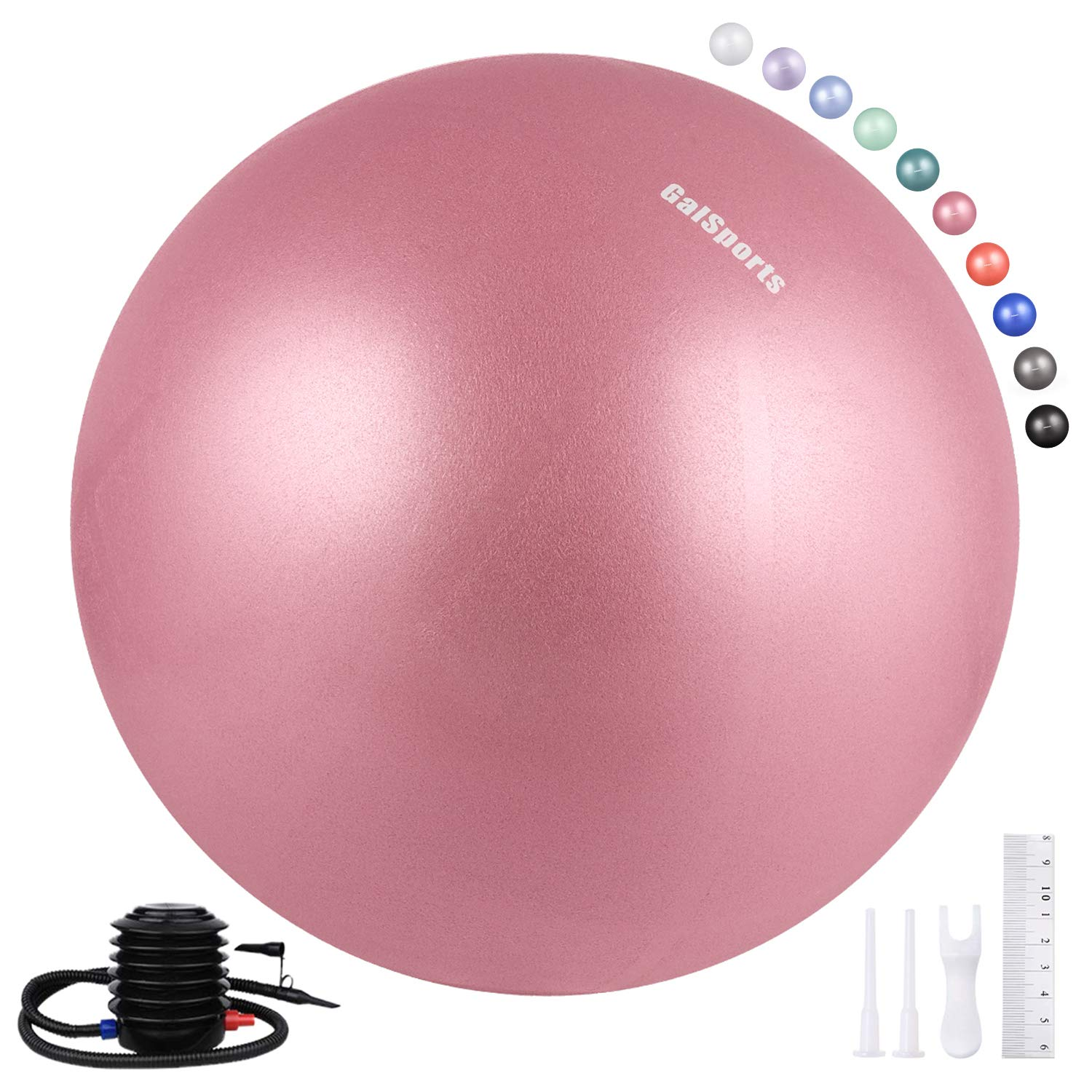 Galsports Pregnancy Birthing Ball, Yoga Exercise Birth Ball Chair for Delivery & Training & Fitness, Extra Thick Non-Toxic Anti-Burst Labor Ball with Quick Pump(Dusty Rose,L(58-65cm))