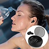Wireless Bluetooth Earbuds,DryMartine V4.2 Mini Headset Sport Earphone With Buil-In Mic and Charging Box,IPX5 Noise Cancelling Waterproof In Ear Headphone All types of Phone for Iphone,Andorid(Black)
