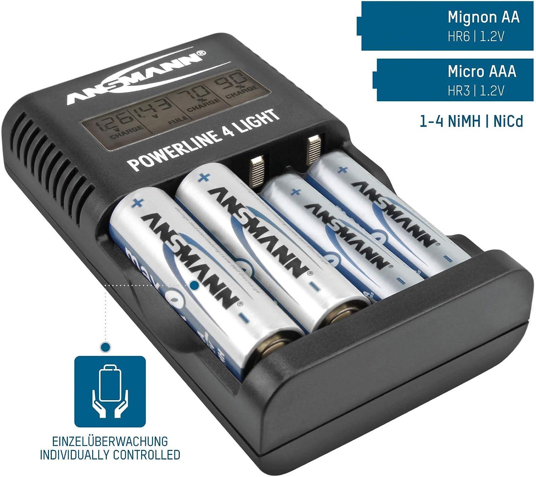 Lii-PD4 Ladegerät Powerline Smart Batterieladegerät für 4x NiMH AA//AAA Akku