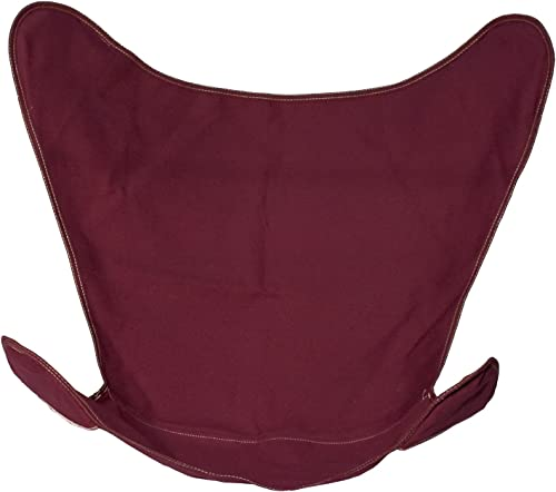 Algoma Net Replacement Cover for Butterfly Chair -Burgundy Cotton Duck Fabric No. 10 4916-116