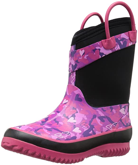 Western Chief Girls' Neoprene Snow Boot, Heart Camo, 13/1 M US Little Kid