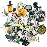 Navy Peony Scary Skull Stickers and Halloween Stickers for Scrapbooking and Halloween Giveaways (31 Pieces