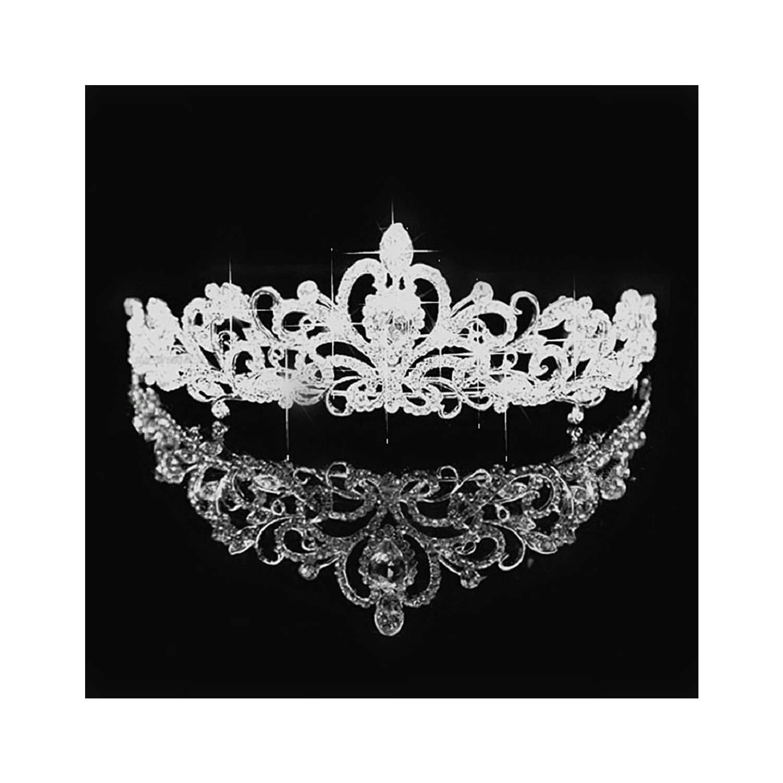 Shiny Pearl Crystal Tiara Wedding Royal Crown Bridal Tiara Accessories Rhinestone Tiaras Crowns Pageant,14