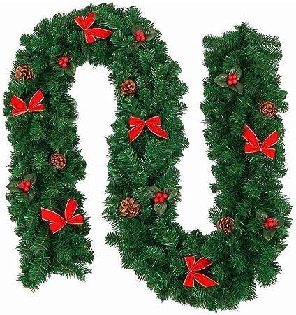 LLZK La Guirnalda de la Navidad Decoraciones Garland, 2,7 M chimeneas escaleras Decoradas, Iluminado Luz de Navidad Festiva Decoración (Color: Estilo 1), Color: Estilo 1 (Color : Style 2): Amazon.es: Hogar