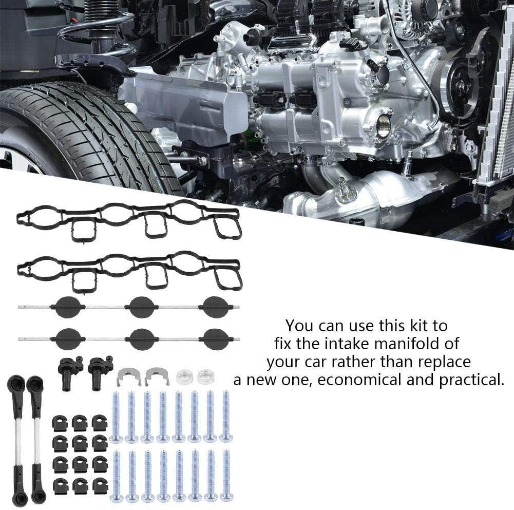 AISENPARTS Sostituzione del set di bielle del corridore di riparazione del deflettore del collettore di aspirazione di aspirazione per Mercedes OM642 A6420905437