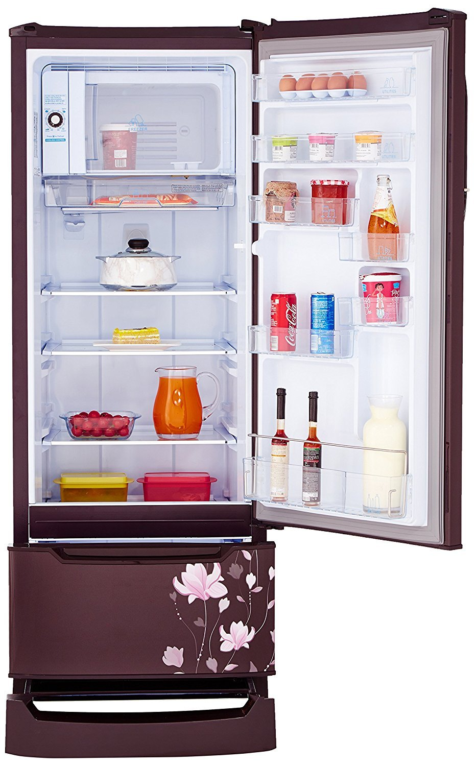 Godrej 255 L 4 Star Direct Cool Single Door Refrigerator (RD EDGE DUO 255  PD INV4.2, Zinnia Wine,Inverter Compressor,Base Stand With Drawer):  Amazon.in: ...