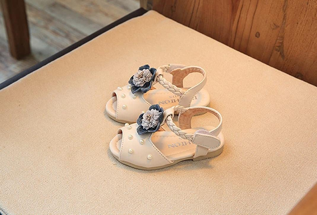 Fullfun Toddler Girl Flower and Pearl Decoration Sandals Shoes