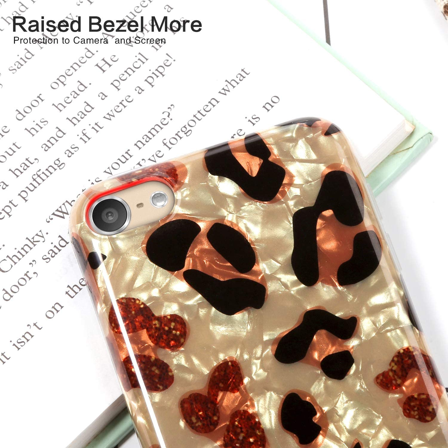 Shell Pattern-Colorful Cheetah IDWELL iPod Touch Case with 2 Screen Protectors iPod Touch 7 Touch 6 Touch 5 Case Slim FIT Anti-Scratch Flexible Soft TPU Bumper Protective Case