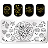BORN PRETTY Nail Art Stamping Template Constellation Divination Star Rectangle manicuring Print DIY Image Plate BP-L087