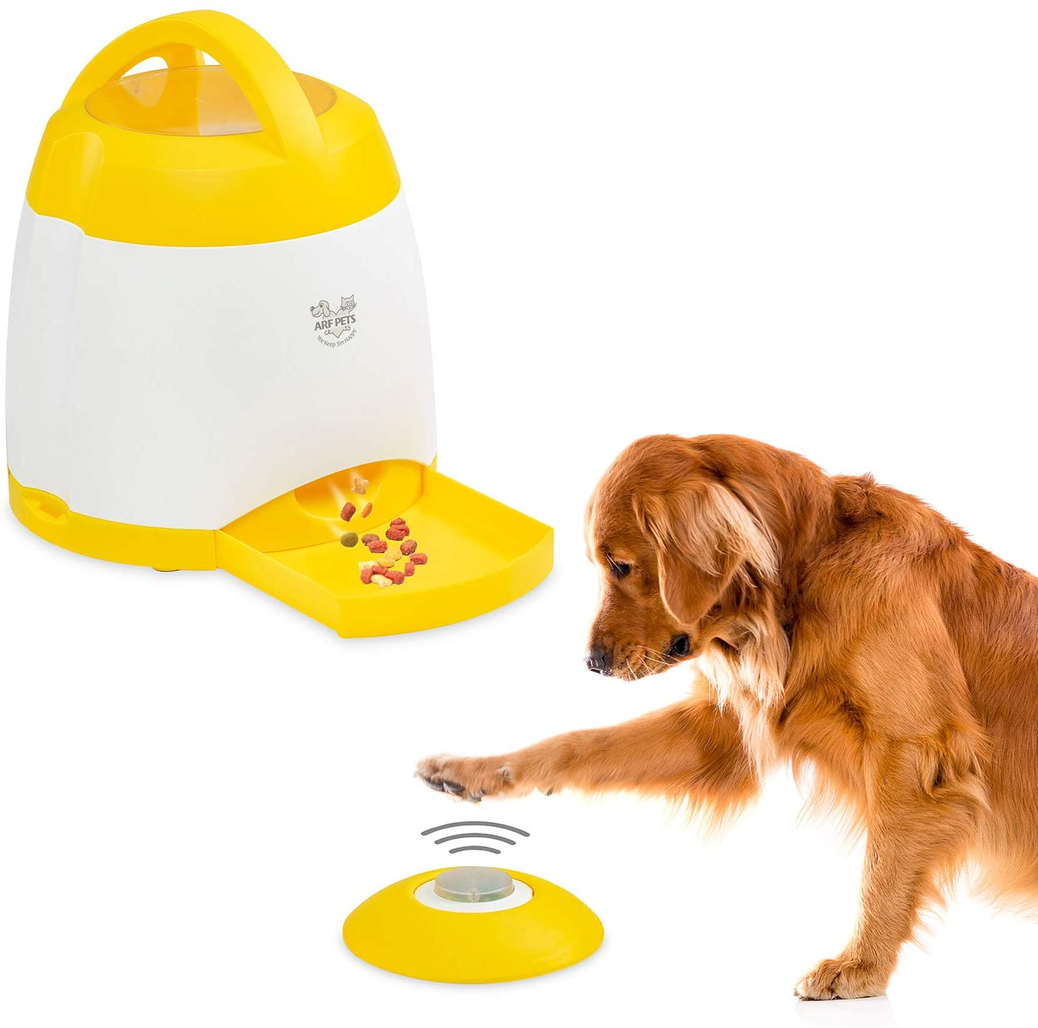 Arf Pets Dog Treat Dispenser – Dog Puzzle Memory Training Activity Toy – Treat While Train, Promotes Exercise by Rewarding Your Pet, Cat, Improves Memory & Positive Training for A Healthier & Happier