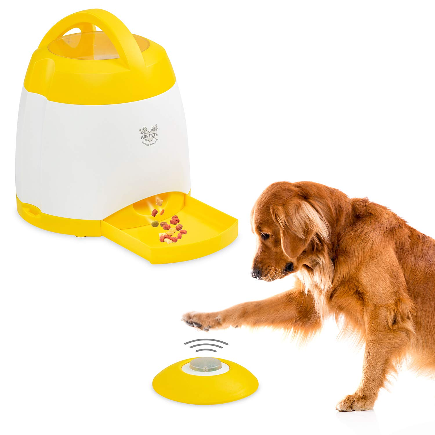 Arf Pets Dog Treat Dispenser - Dog Puzzle Memory Training Activity Toy - Treat While Train, Promotes Exercise by Rewarding Your Pet, Cat, Improves Memory & Positive Training for A Healthier & Happier by Arf Pets