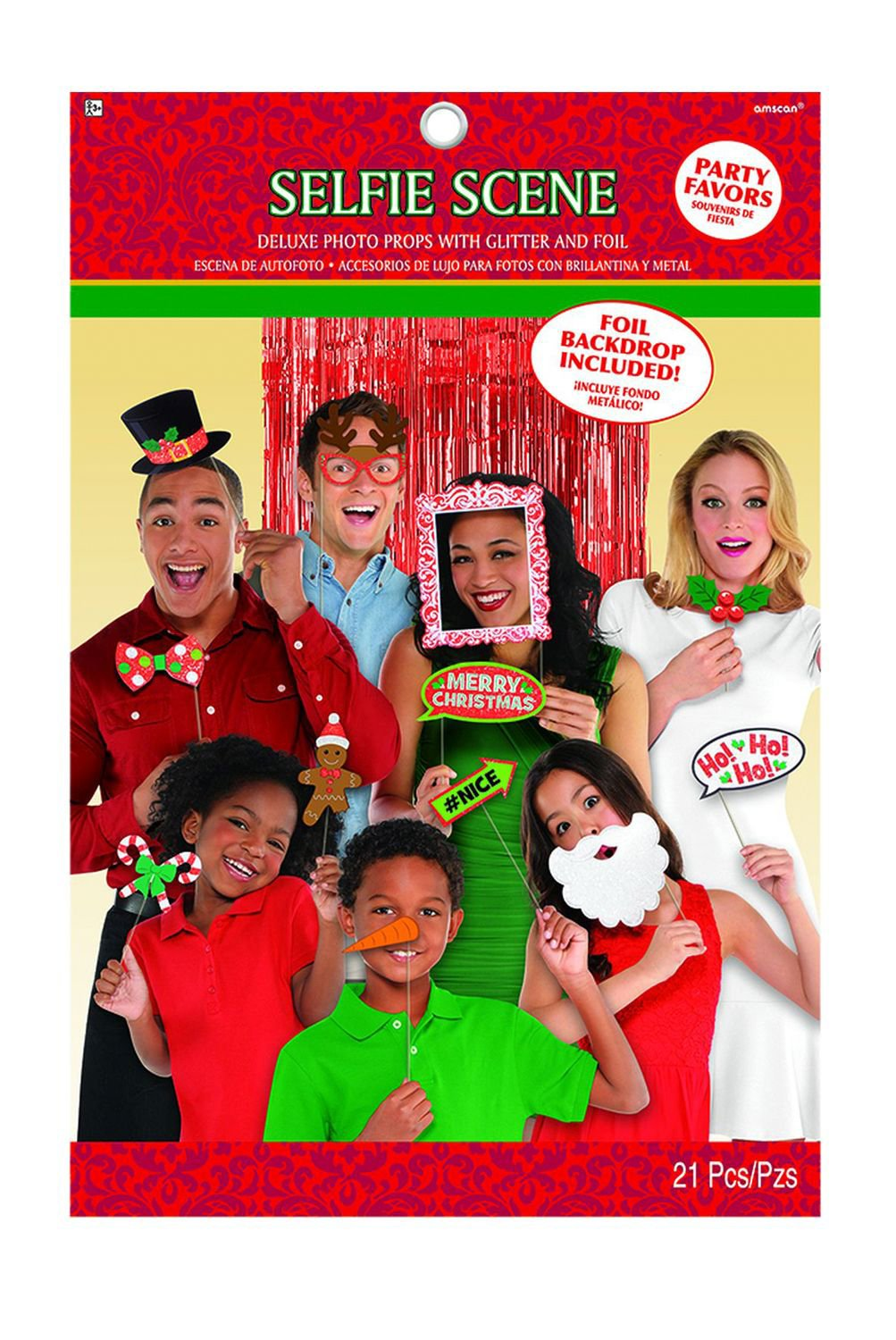 Christmas Photo Booth Props 21ct
