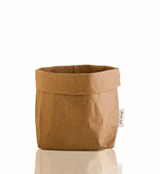 Decorative And Durable Paper Bag Reusable Eco Friendly Basket Bin Organizer  Personalize Your House Food U0026