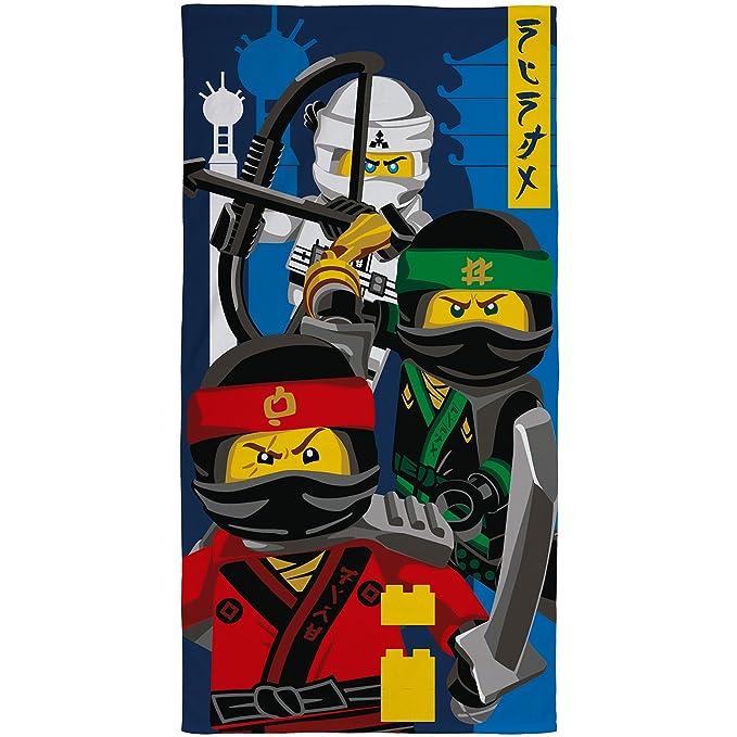 Lego Ninjago película Ninja niños Toalla: Amazon.es: Hogar