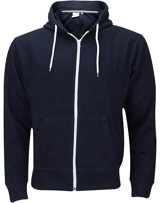 Sudadera con capucha y cremallera para hombre (tallas S a 5XL) Hoodie - Navy