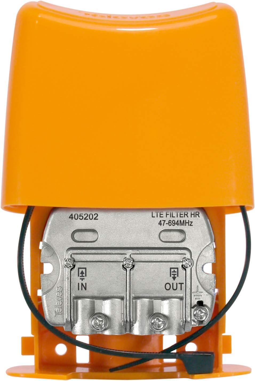 DVB-T/T2 Filtro LTE para Rejection de la banda 4 G, frecuencias acceptées 47 - 694 MHZ
