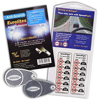 Eurolites Left Hand Drive Headlamp Adaptor Converters For Driving In UK With French Instructions