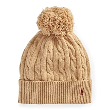 2c40d9a98 Polo Ralph Lauren Womens Cable Knit Knitted Pom Pom Hat Beanie Wool ...