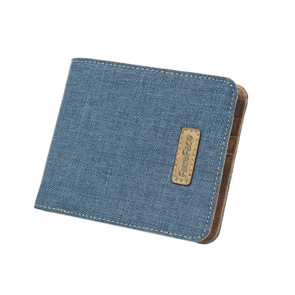 Mens Boys Casual Thin Bi-fold Wallet Multifunction Fashion Card Cash Cases Holders Package Purse Coin Pouches Money Clip