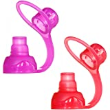 ChooMee SoftSip Food Pouch Tops | 100% Silicone | 2 CT
