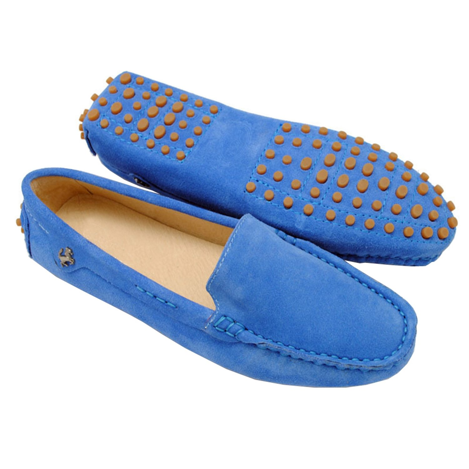 Minishion TYB9601 Women's Round Toe Loafers Boat Shoes Ballet Flats Loafers B00FORS94I 9 B(M) US|Blue