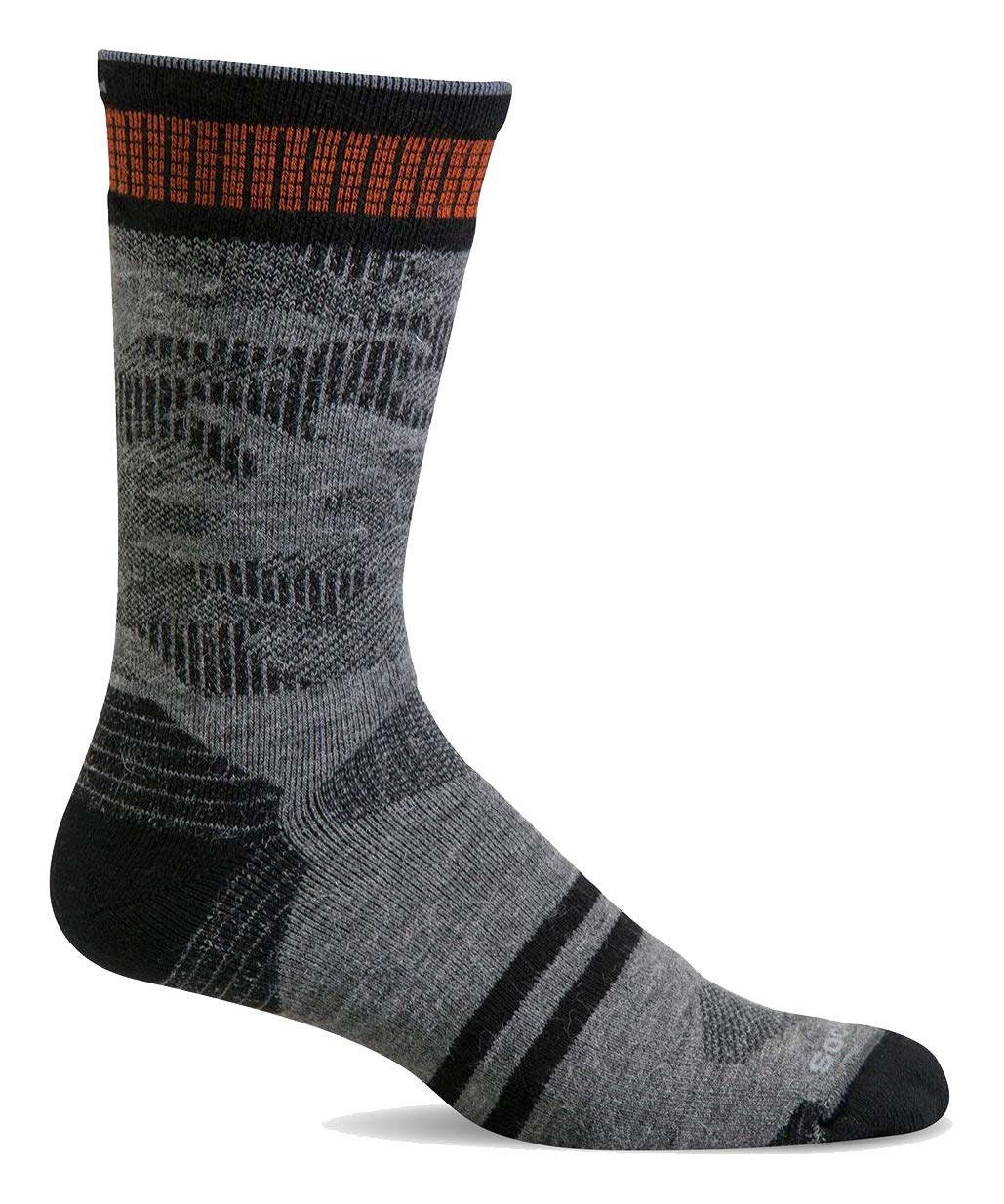 Sockwell Men's Camo Crew Moderate Graduated Compression Sock, Grey - L/XL by Sockwell