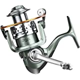 Rose Kuli 12+1 Stainless Steel Ball Bearings Fishing Spinning Reel Freshwater Saltwater With 5.2:1 Gear Ratio Metal Body Left/right Interchangeable Collapsible Handle Spinning