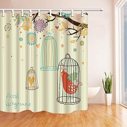 Amazoncom Szzwy Birds In The Birdcage In The Flowers Shower