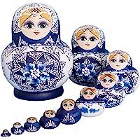 YAKELUS 10pcs Russian Nesting Dolls Matryoshka handmade1070