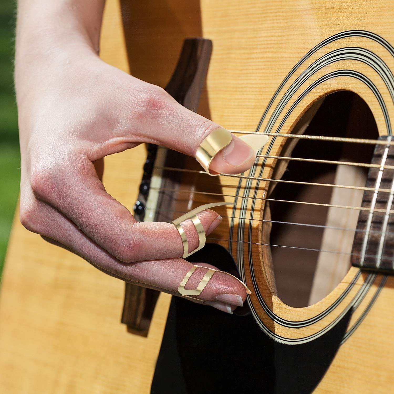 8 Púas de Dedo Pulgar de Guitarra Púas de Guitarra de Acero ...