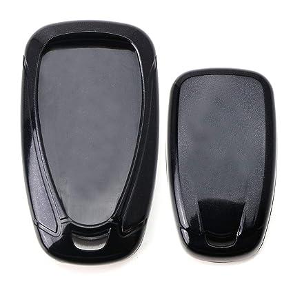 iJDMTOY Glossy Metallic Black Exact Fit Key Fob Shell Cover for 2016-up  Chevrolet Camaro Cruze Spark Volt, 2017-up Malibu Bolt Sonic Trax, etc