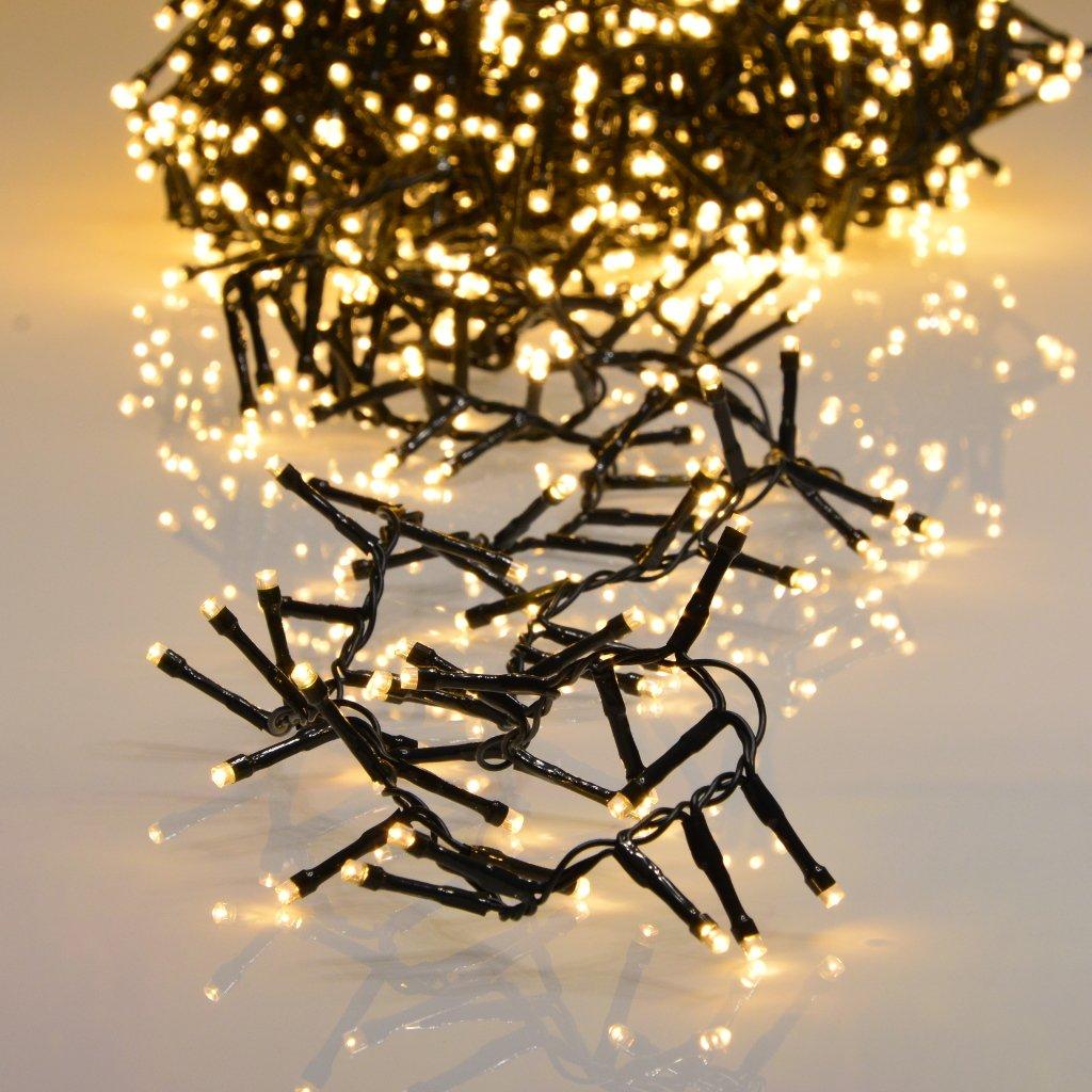 1200er LED Lichterkette extra warmweiß mit 8 Programmen LEDs für Innen und Außen INtrenDU®