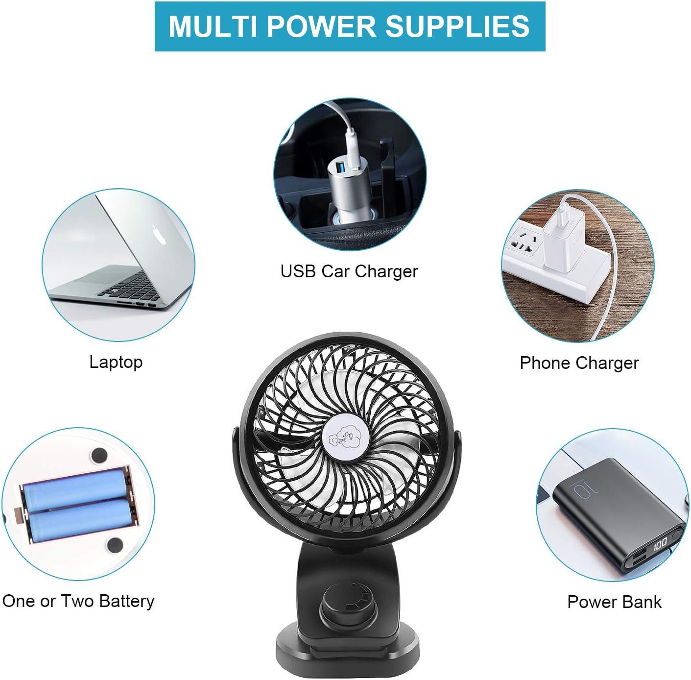 Rose, M erthome Pince de Ventilateur /électrique Rechargeable USB en Forme de Mini Ventilateur Portable Compact l/éger Mignon Bonne Texture