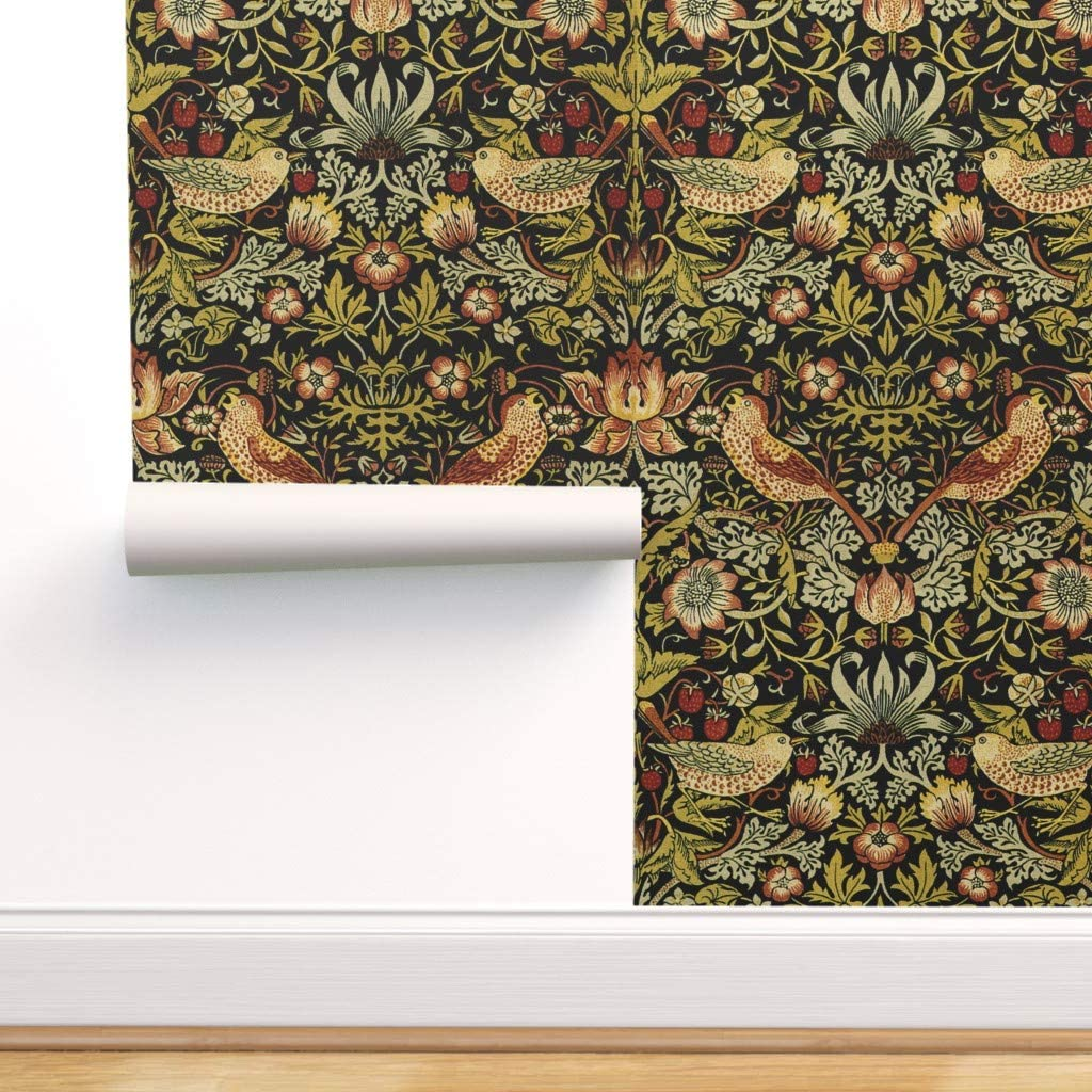 Peel And Stick Removable Wallpaper Vintage Style Floral