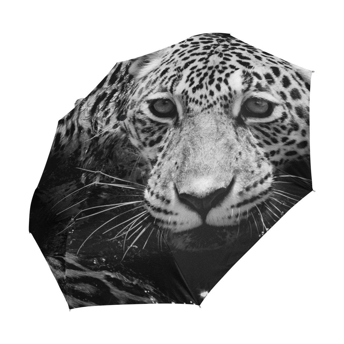 COOSUN Blanco y Negro Retrato de Jaguar automático 3 Plegable del Paraguas del Parasol Color # 001: Amazon.es: Equipaje