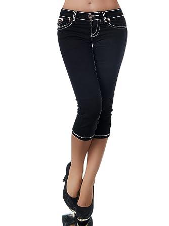 a2445185665e K900 Damen Capri Jeans Hose Damenjeans Caprihose Caprijeans Bermuda Dicke  Naht