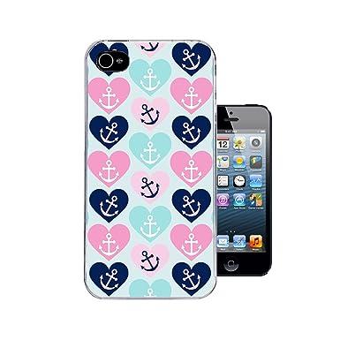 ff5950211c9 iPhone 4 y 4s funda Rosa y Azul Verde carcasa Anchor bolas de cristal de  corazones ...